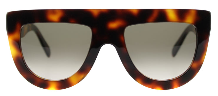 Celine Andrea CL 41398 05L 05L Fashion Plastic Tortoise/ Havana Sunglasses with Brown Gradient Lens