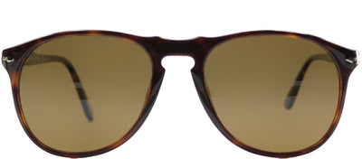 Persol PO 9649 24/57 Oval Plastic Brown Sunglasses with Brown Polarized Lens