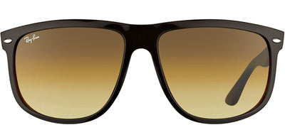 Ray-Ban Boyfriend RB 4147 609585 Square Plastic Black Sunglasses with Brown Gradient Lens