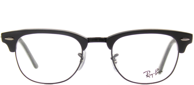Ray-Ban RX 5154 2077 Clubmaster Plastic Black Eyeglasses with Demo Lens