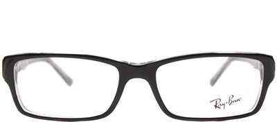 Ray-Ban RX 5169 2034 Rectangle Plastic Black Eyeglasses with Demo Lens