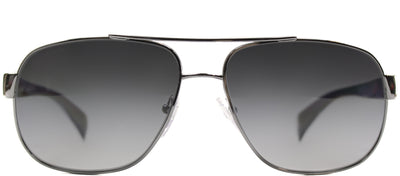Prada PR 52PS 5AV5W1 Fashion Metal Ruthenium/ Gunmetal Sunglasses with Grey Gradient Polarized Lens