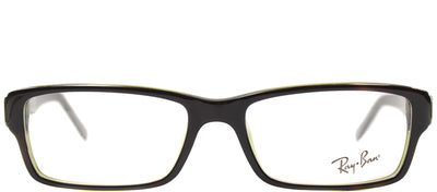 Ray-Ban RX 5169 2383 Rectangle Plastic Brown Eyeglasses with Demo Lens