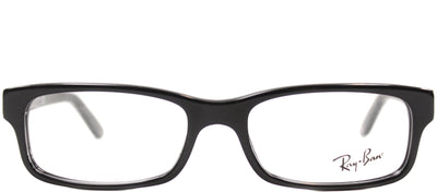 Ray-Ban RX 5187 2000 Rectangle Plastic Black Eyeglasses with Demo Lens