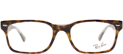 Ray-Ban RX 5286 5082 Rectangle Plastic Tortoise/ Havana Eyeglasses with Demo Lens