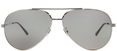 Saint Laurent SL Classic11 Zero 001 Aviator Metal Silver Sunglasses with Grey Crystal Flat Lens