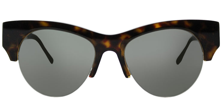 Victoria Beckham VBS 91 C07 Cat-Eye Plastic Tortoise/ Havana Sunglasses with Black Lens