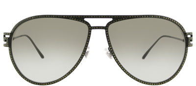Versace VE 2171B 13928E Aviator Metal Green Sunglasses with Green Gradient Lens