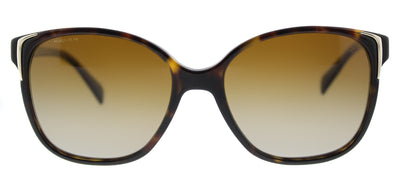 Prada PR 01OS 2AU6E1 Square Plastic Tortoise/ Havana Sunglasses with Brown Gradient Polarized Lens