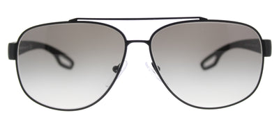 Prada Linea Rossa PS 58QS DG00A7 Aviator Metal Black Sunglasses with Grey Gradient Lens