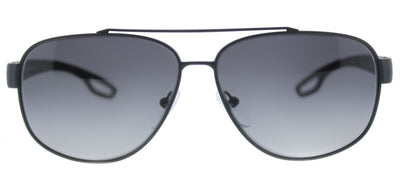 Prada Linea Rossa PS 58QS TFZ5W1 Aviator Metal Grey Sunglasses with Grey Gradient Polarized Lens
