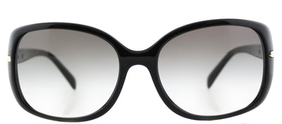 Prada PR 08OS 1AB0A7 Rectangle Plastic Black Sunglasses with Grey Gradient Lens