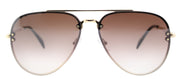 Celine CL 41392 J5G N5 Aviator Metal Gold Sunglasses with Brown Silver Mirror Lens