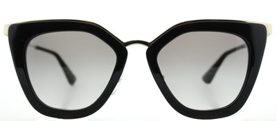 Prada PR 53SS 1AB0A7 Cat-Eye Plastic Black Sunglasses with Grey Gradient Lens