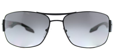 Prada Linea Rossa PS 53NS 7AX5W1 Aviator Metal Black Sunglasses with Grey Gradient, Polarized Lens
