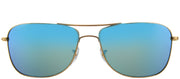 Ray-Ban RB 3543 112/A1 Square Metal Gold Sunglasses with Blue Mirrored Chromance Polarized Lens