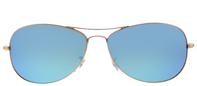 Ray-Ban RB 3562 112/A1 Aviator Metal Gold Sunglasses with Blue Mirrored Chromance Polarized Lens