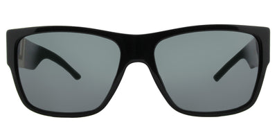 Versace VE 4296 GB1/87 Square Plastic Black Sunglasses with Grey Lens