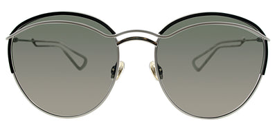 Dior CD DiorRound 4U9 Round Metal Ivory/ White Sunglasses with Silver Mirror Lens