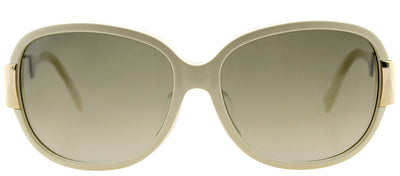 Dior CD Midnight SBR Square Plastic Ivory/ White Sunglasses with Grey Gradient Lens