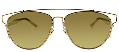 Dior CD Technologic RHL 833 Fashion Metal Gold Sunglasses with Gold Mirror Lens