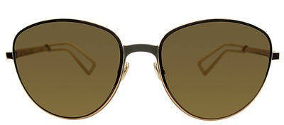 Dior CD ULTRADIORS RCX Round Metal Grey Sunglasses with Brown Lens