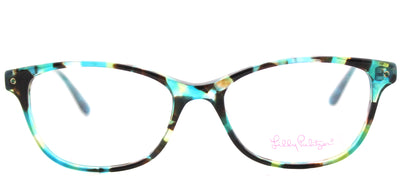 Lilly Pulitzer LP Brynn AQ Cat-Eye Plastic Blue Eyeglasses with Demo Lens