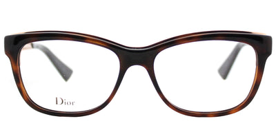 Dior CD Diorama01 EOG Rectangle Plastic Tortoise/ Havana Eyeglasses with Demo Lens
