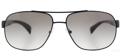 Prada PR 52PS 7AX0A7 Fashion Metal Black Sunglasses with Grey Gradient Lens