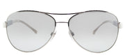 Burberry BE 3080 10056V Aviator Metal Silver Sunglasses with Silver Mirror Lens