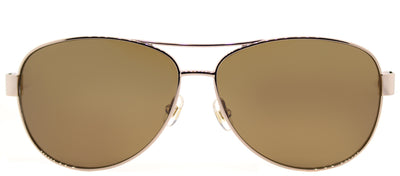 Kate Spade KS Dalia2/P RNF Aviator Metal Gold Sunglasses with Brown Polarized Lens