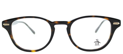 Original Penguin PE Murphy TO Round Plastic Tortoise/ Havana Eyeglasses with Demo Lens