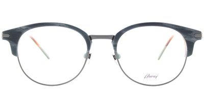 Brioni BR 0008O 003 Round Plastic Grey Eyeglasses with Demo Lens
