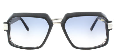 Cazal Cazal 6004/3 002SG Rectangle Plastic Black Sunglasses with Light Grey Gradient Lens