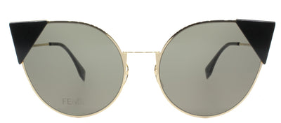 Fendi FF 0190 000 2M Cat-Eye Metal Gold Sunglasses with Brown Lens