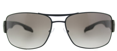 Prada Linea Rossa PS 53NS UFI0A7 Aviator Metal Green Sunglasses with Grey Gradient Lens