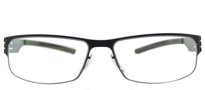 Ic! Berlin IC SergeK Black Rectangle Metal Black Eyeglasses with Demo Lens