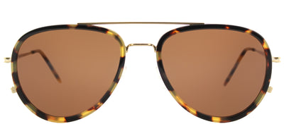 Tomas Maier TM 0009S 002 Aviator Plastic Tortoise/ Havana Sunglasses with Brown Lens