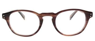 Lafont LF Recamier 5034 Round Plastic Brown Eyeglasses with Demo Lens