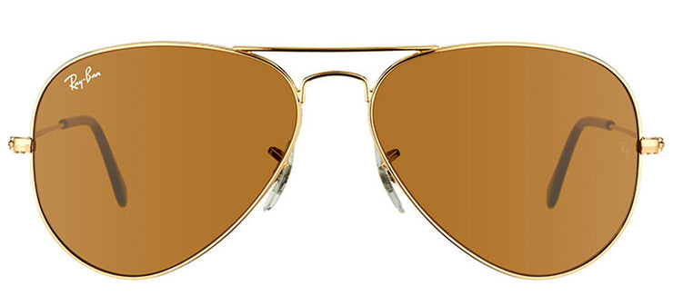 Ray-Ban RB 3025 001/33 Aviator Metal Gold Sunglasses with Brown Lens