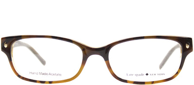 Kate Spade KS Lucyann JMD Rectangle Plastic Tortoise/ Havana Eyeglasses with Demo Lens