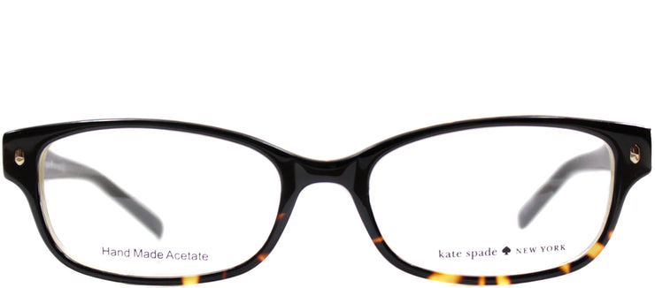 Kate Spade KS Lucyann JYY Rectangle Plastic Black Eyeglasses with Demo Lens