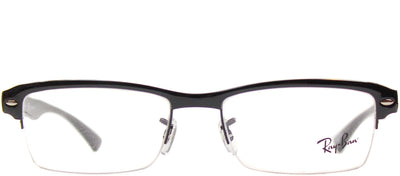 Ray-Ban RX 7014 2000 Clubmaster Plastic Black Eyeglasses with Demo Lens