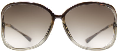 Tom Ford Raquel TF 76 38F Fashion Plastic Brown Sunglasses with Brown Gradient Lens