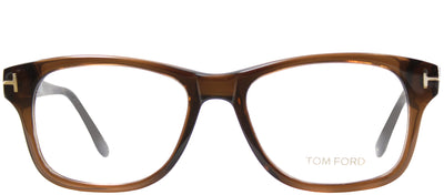 Tom Ford FT 5147 050 Rectangle Plastic Brown Eyeglasses with Demo Lens
