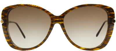 Tom Ford TF 324 50F Fashion Plastic Brown Sunglasses with Brown Gradient Lens