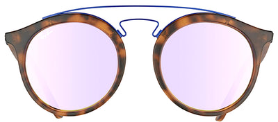 Ray-Ban RB 4256 6266B0 Fashion Plastic Tortoise/ Havana Sunglasses with Lilac Mirrored Gradient Lens