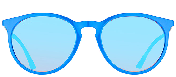 Ray-Ban RB 4274 6260B7 Round Plastic Blue Sunglasses with Blue Mirrored Gradient Lens