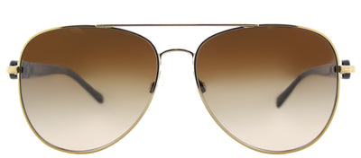 Michael Kors MK 1015 112813 Aviator Metal Gold Sunglasses with Brown Gradient Lens