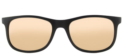 Ray-Ban Junior RJ 9062 70132Y Square Plastic Black Sunglasses with Copper Flash Mirror Lens